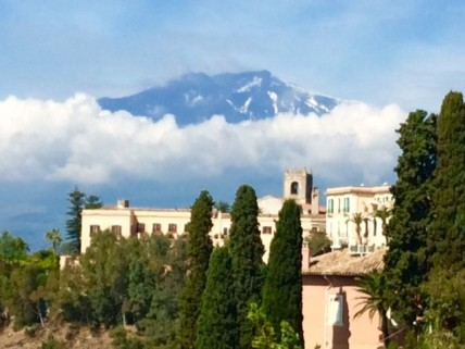 Mt Etna from Taormina