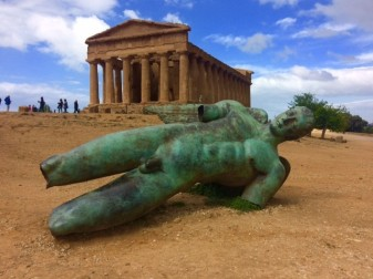 Agrigento - Valley of the Temples with fallen angel